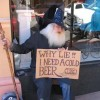 Creative Hilarious But Sad Homeless Signs
