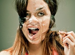 Distorted Scotch Tape Portraits